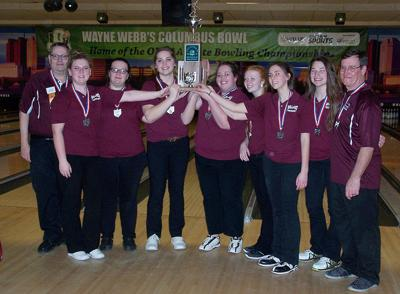 2016-17 Lady Flashes bowlers D-II State runners-up