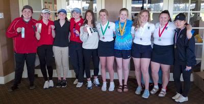 Girls golf all-league