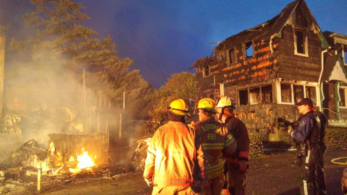 Seaside blaze destroys three homes, badly damages fourth
