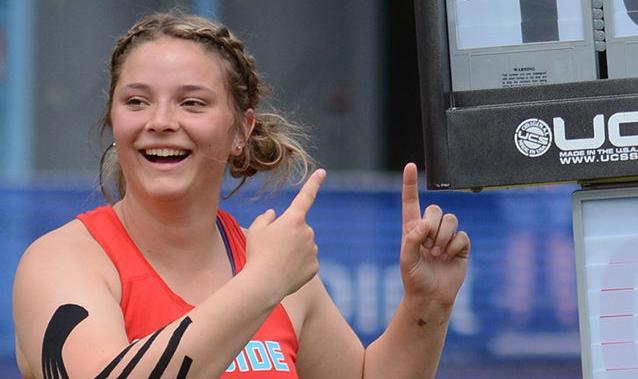 Gretchen Hoekstre, state meet record