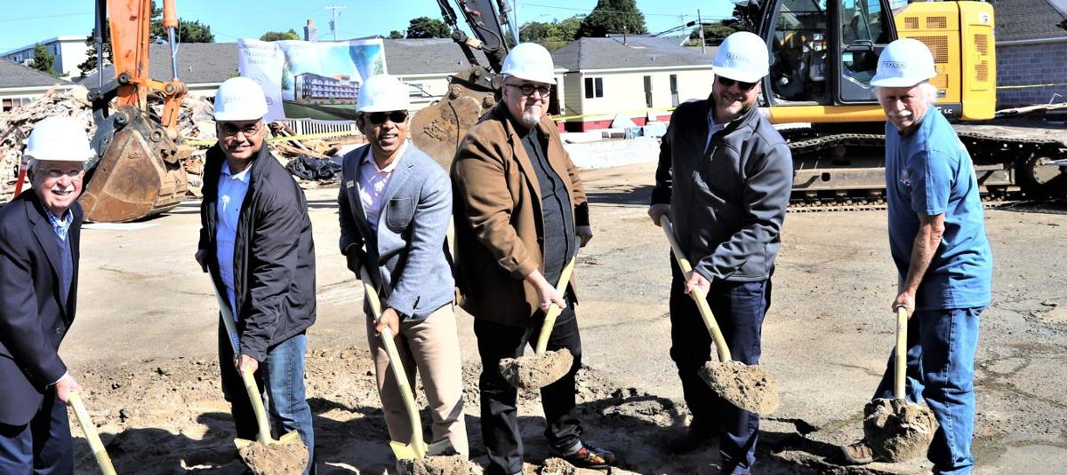 Shovels to the ground