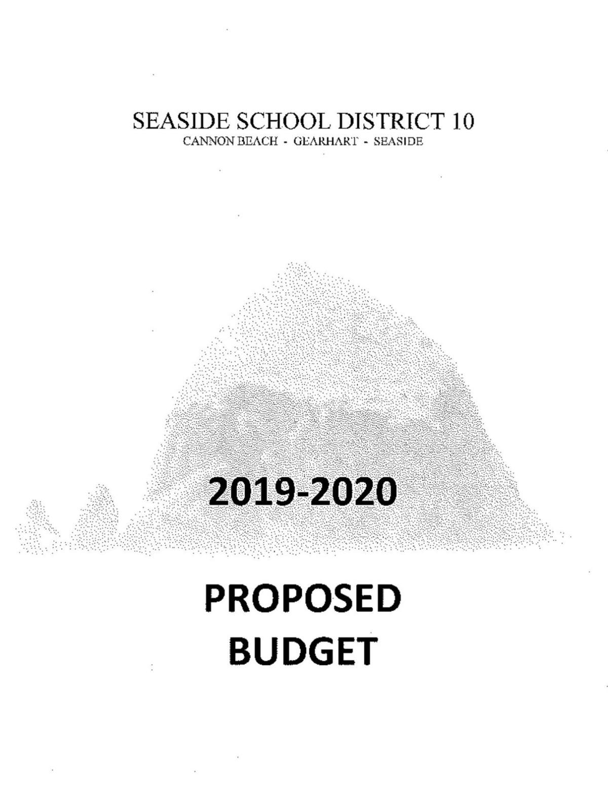 Seaside School District 2019-2020 proposed budget