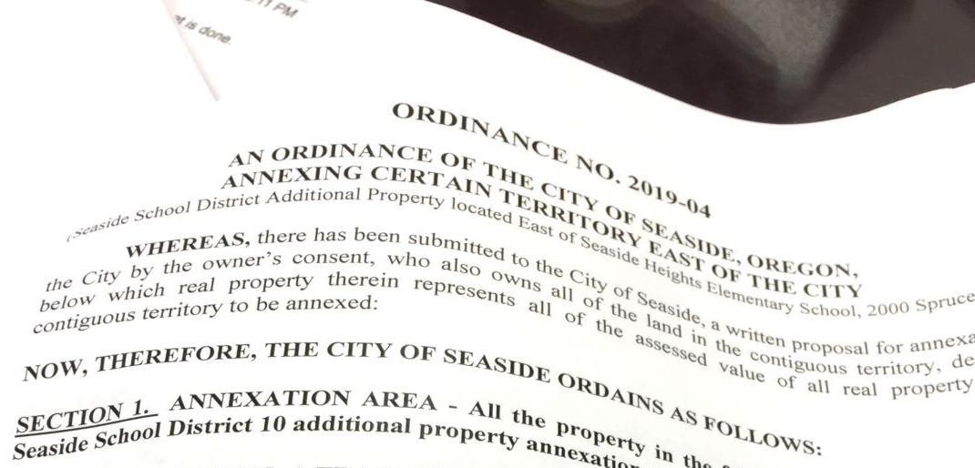 Annexation ordinance