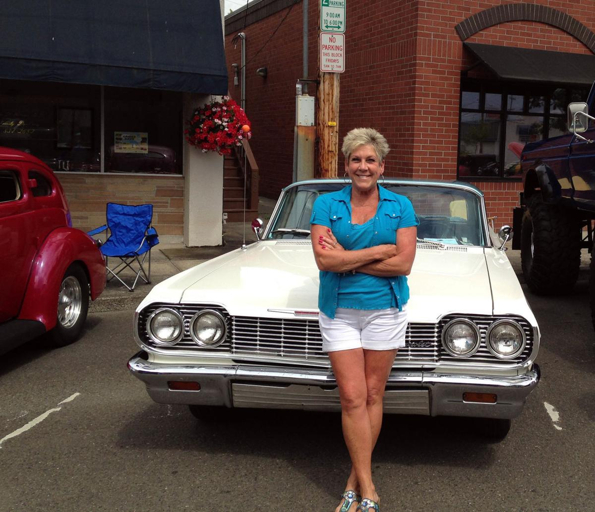 A leading lady at Muscle and Chrome