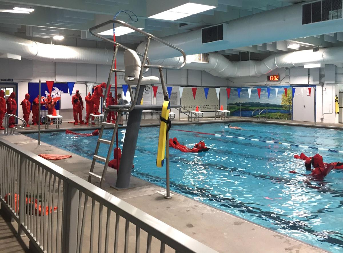 Water rescue classes at the Sunset Pool
