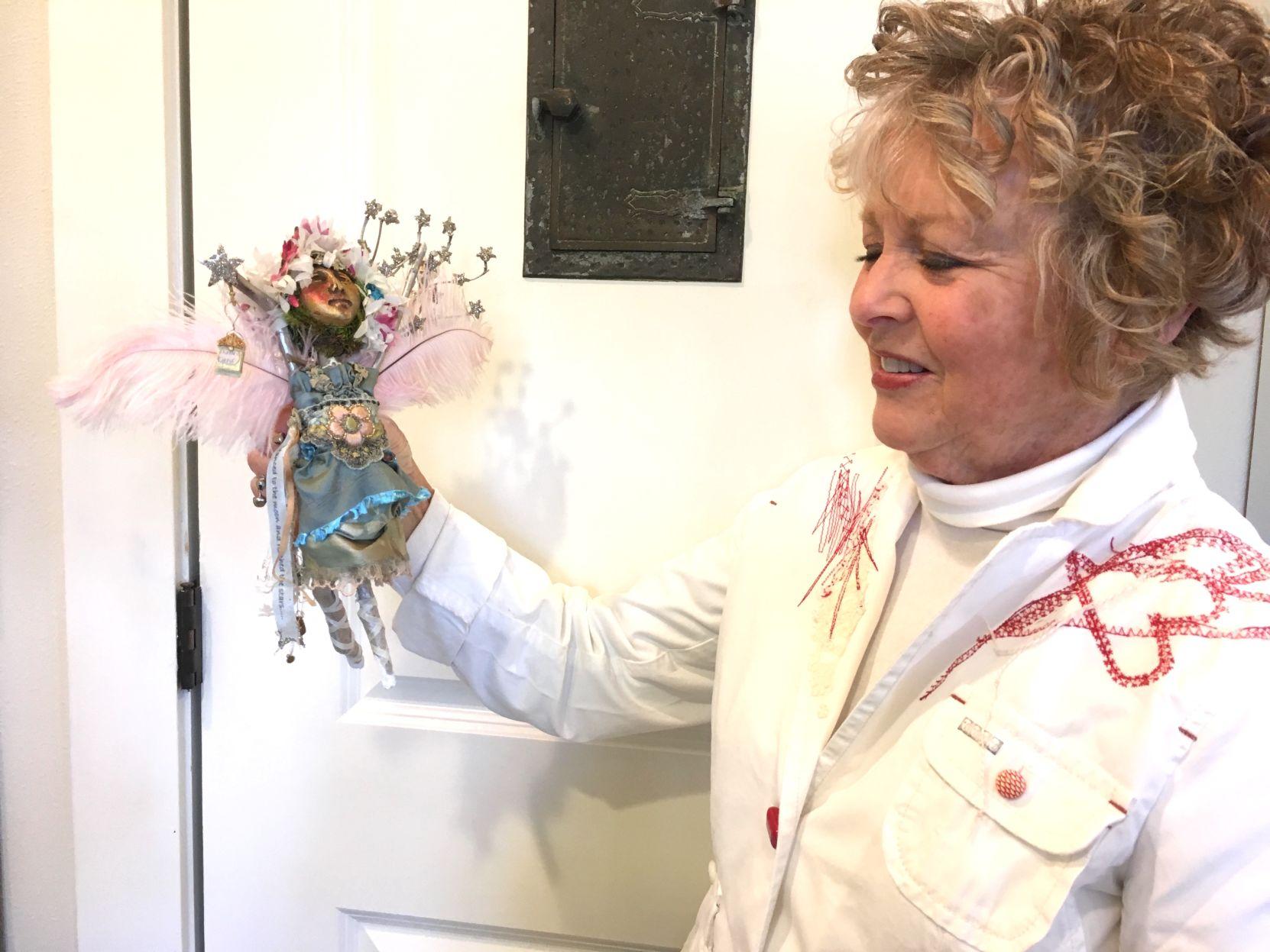 Jan Barber with spirit doll
