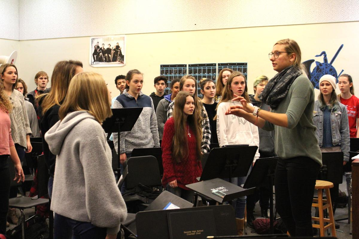 High school choir with Kimber Parker