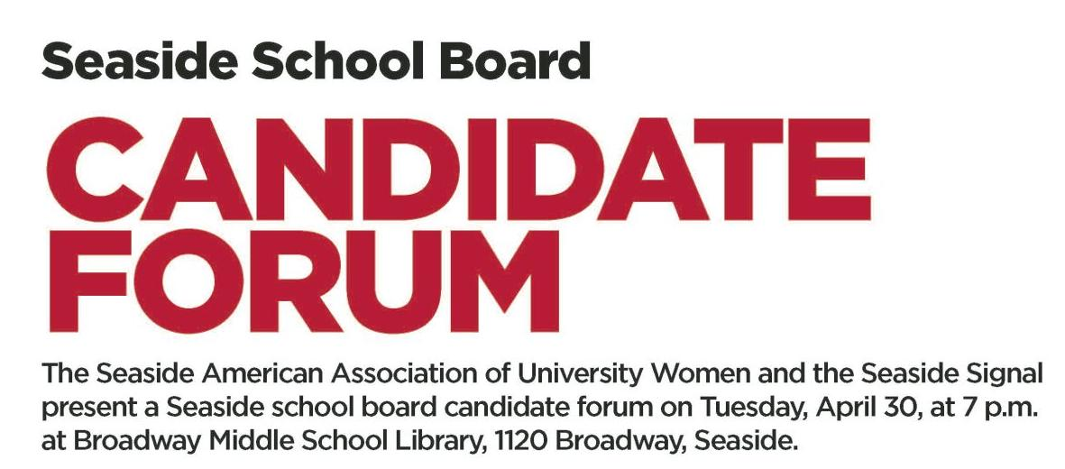 Candidate forum ahead