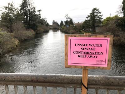 Sewage line leak