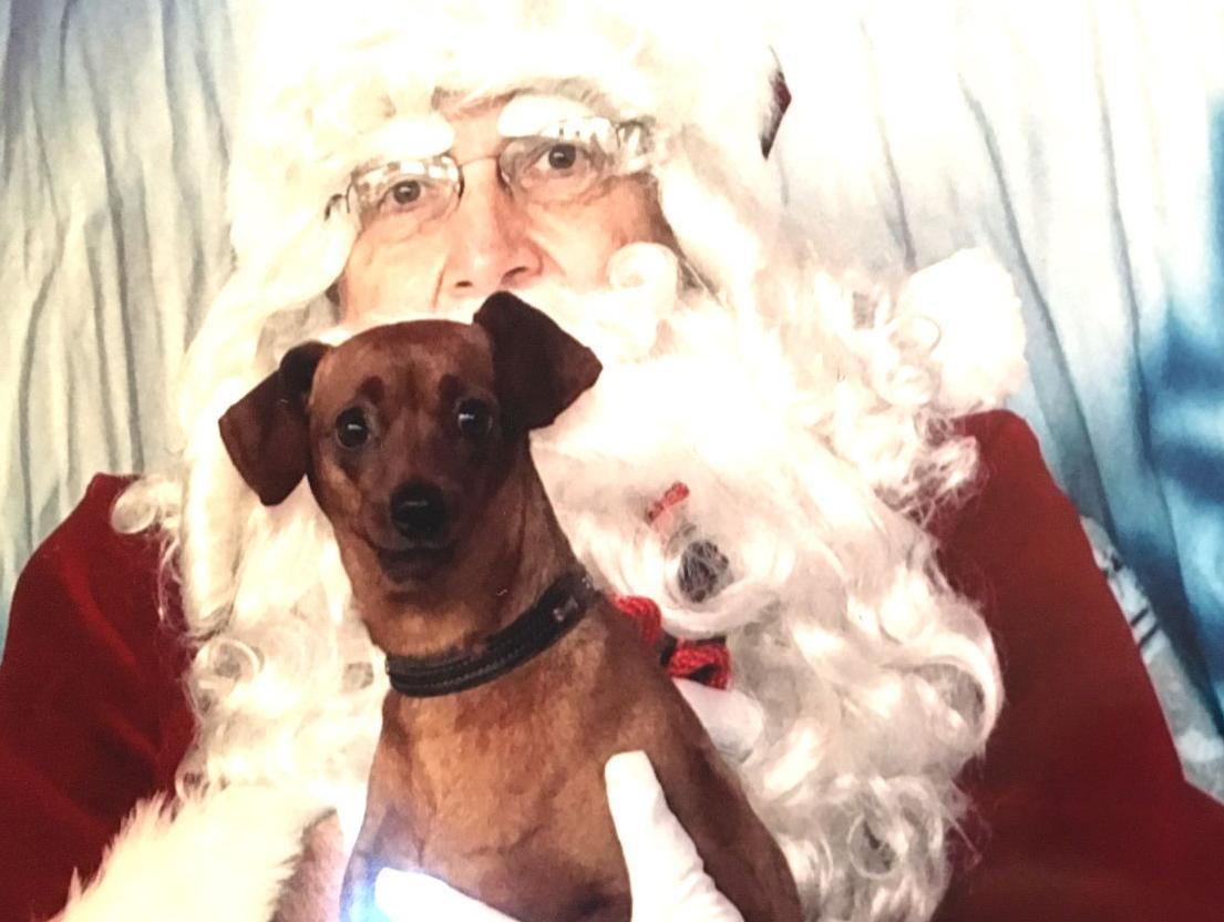 Lucy meets Santa