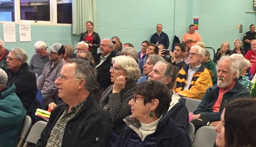 Audience at town hall