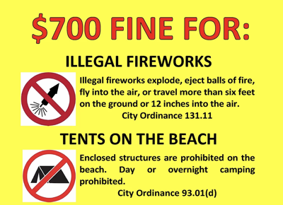 Penalties for illegal fireworks