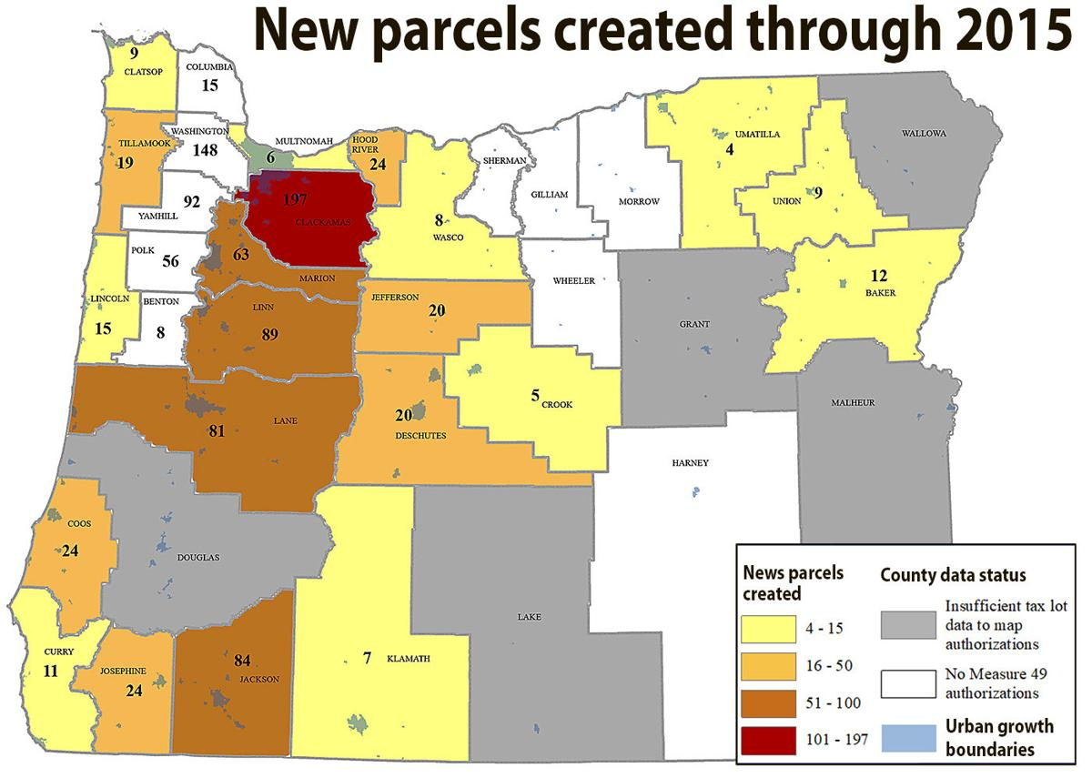 New parcels through 2015