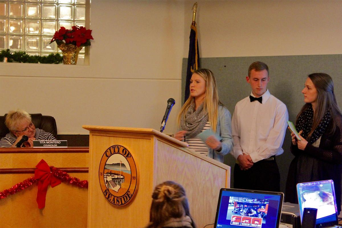 Seaside students challenge communities to become prepared