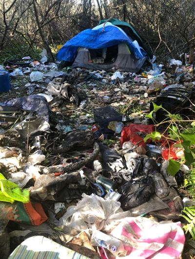 Homeless camp in Warrenton