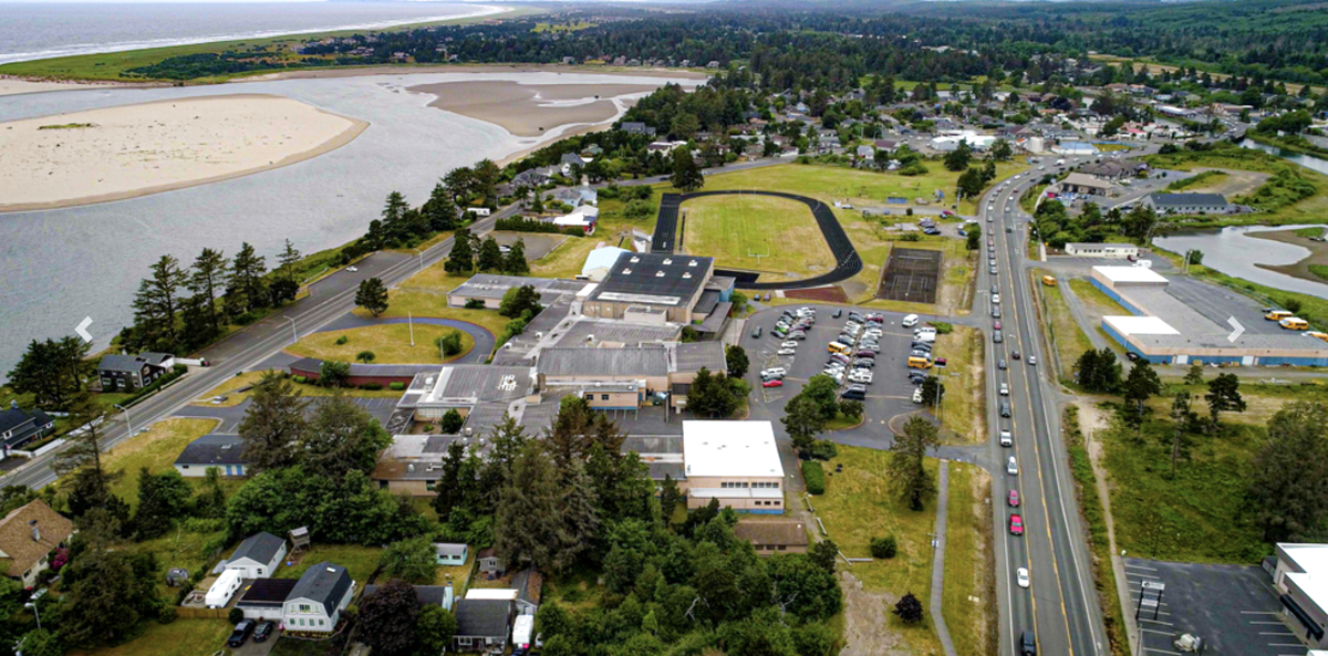 Seaside High School from the air