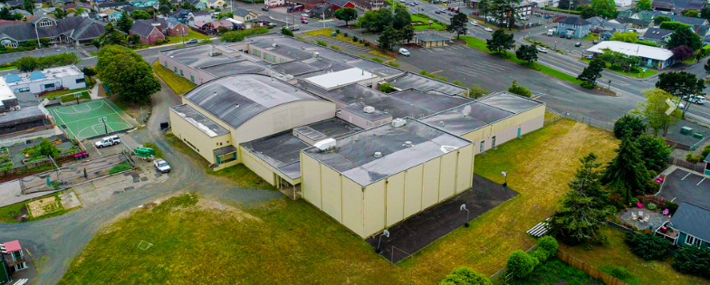Aerial view of Broadway Middle School