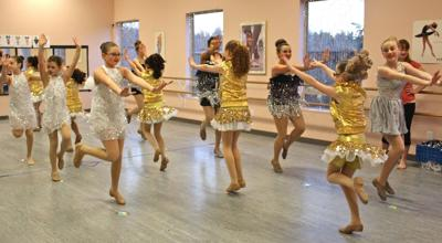 Encore Dance Studio students rehearse for appearances in Disneyland