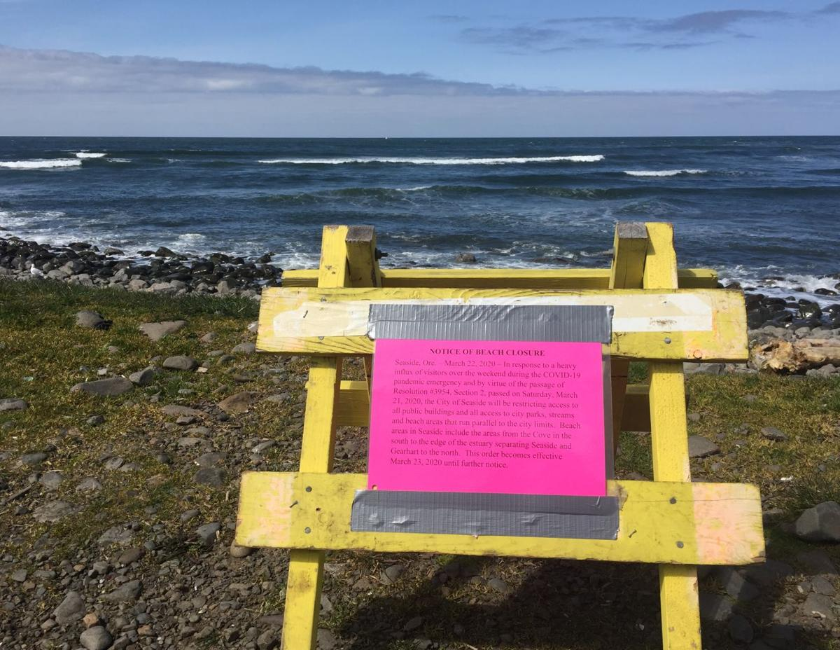 Beach closure