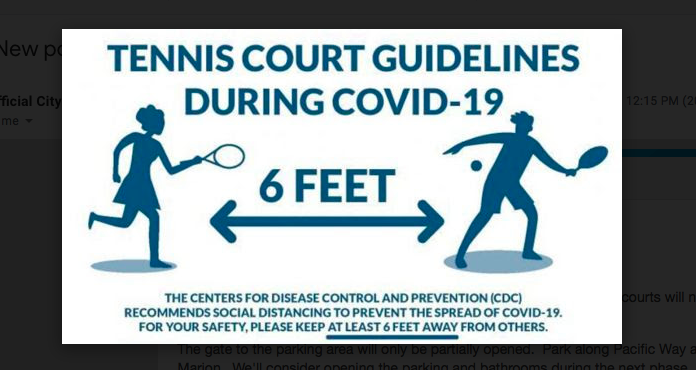 Tennis court guidelines