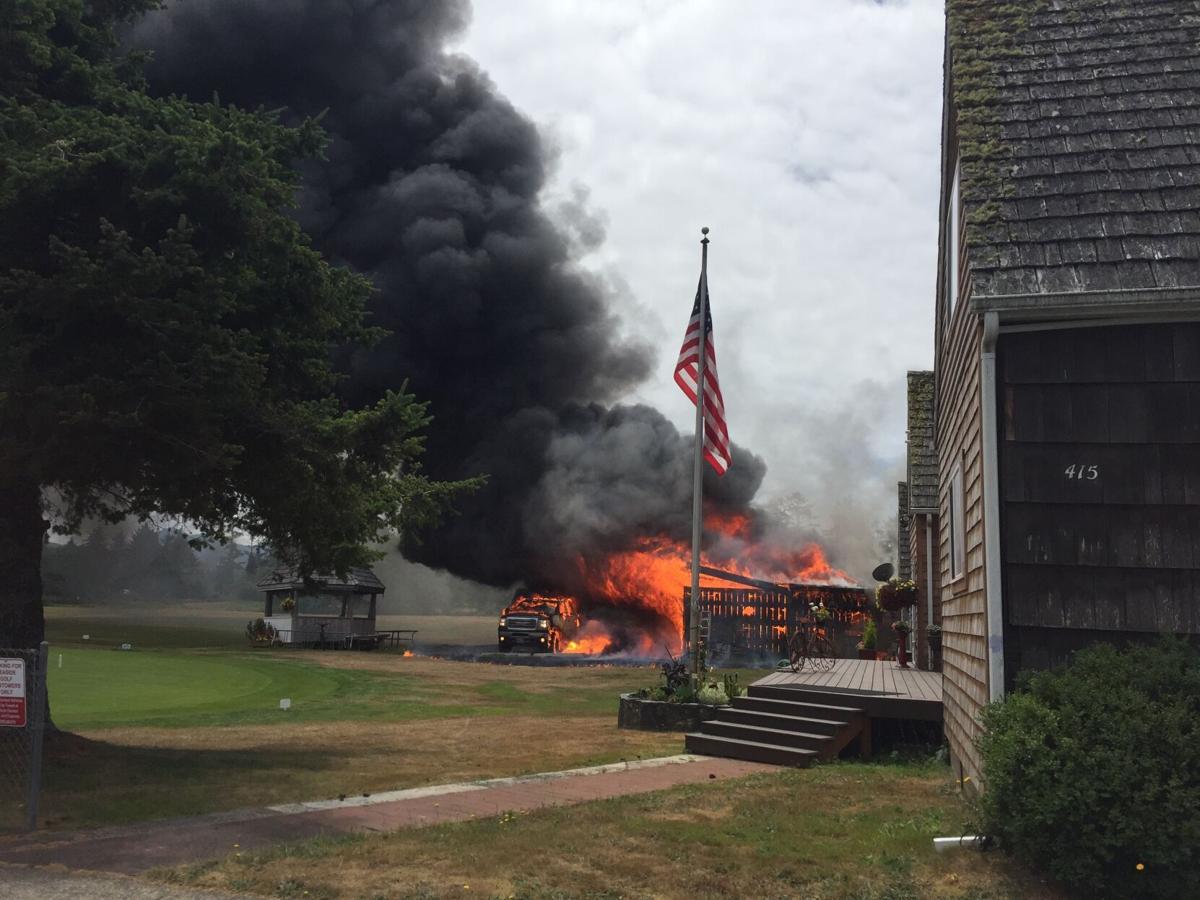 Golf course fire