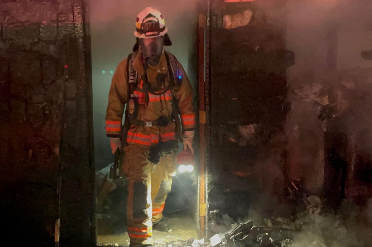 Firefighters battle 11th Avenue blaze