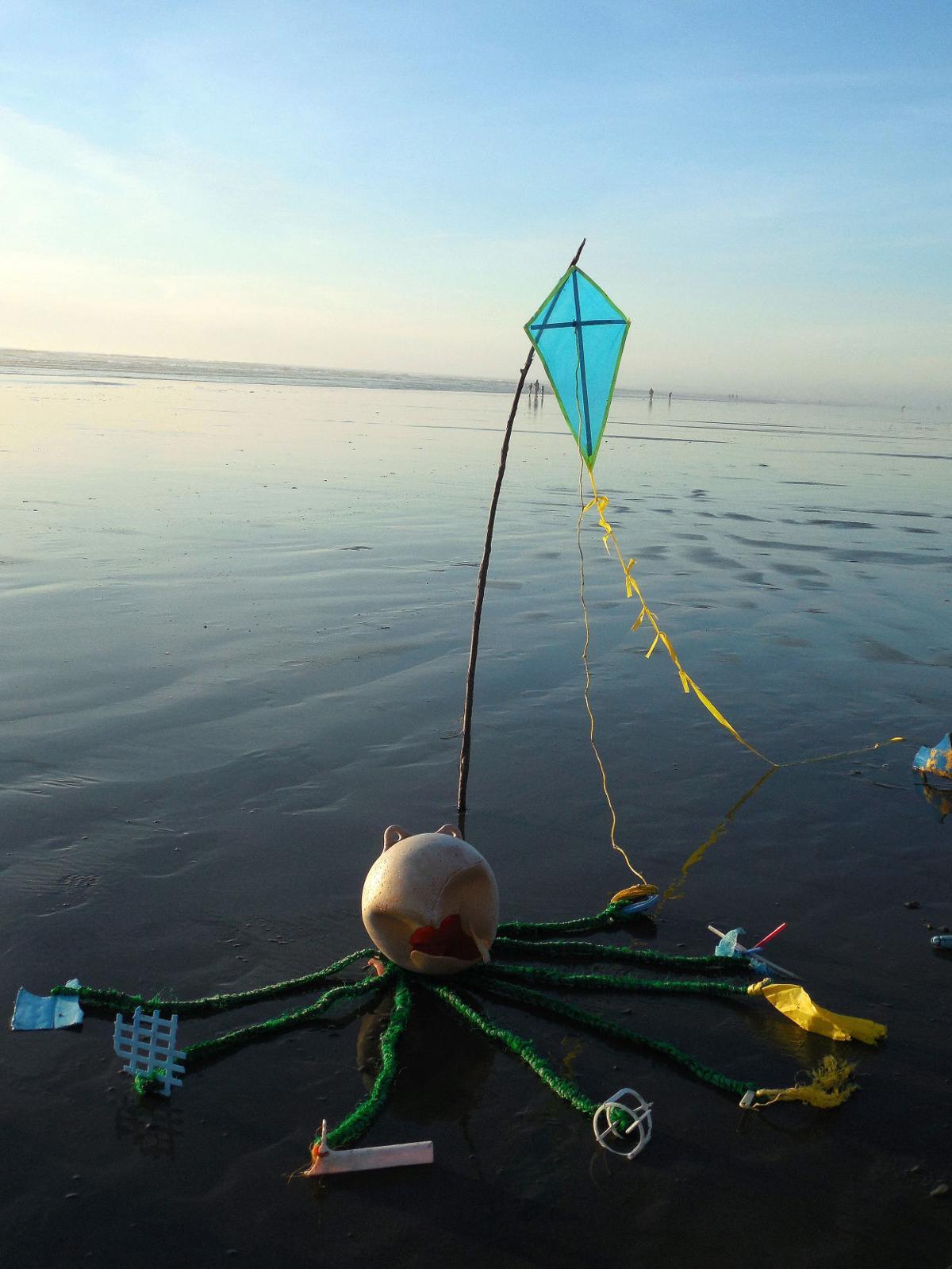Artist transforms marine debris