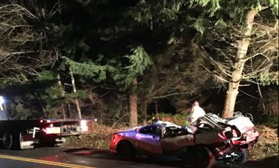Rollover on Lewis and Clark Road