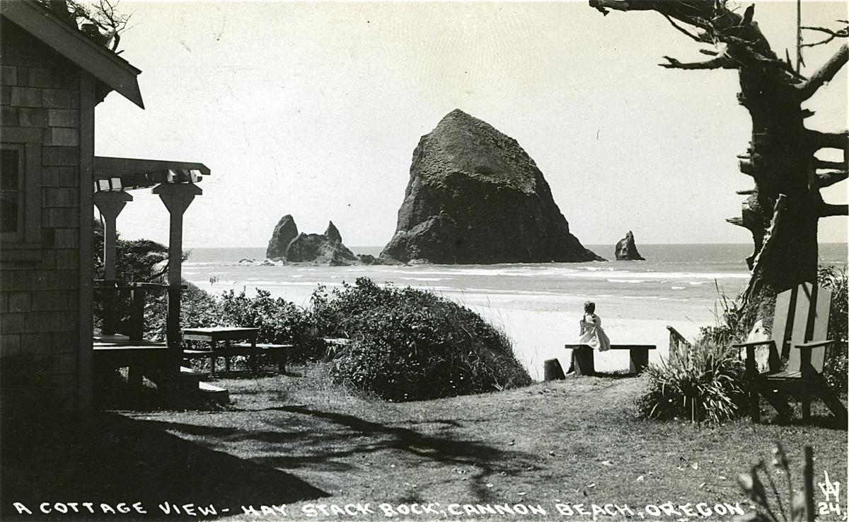 Haystack Rock, from the 1940s
