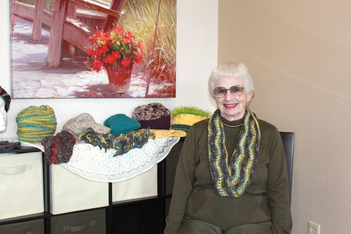 Knitting is her passion, and one she shares
