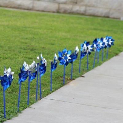 pinwheel garden April 21