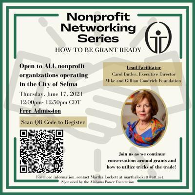 Nonprofit grant writing workshop flyer