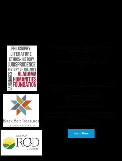 Black Belt Treasures Cultural Arts Center flyer