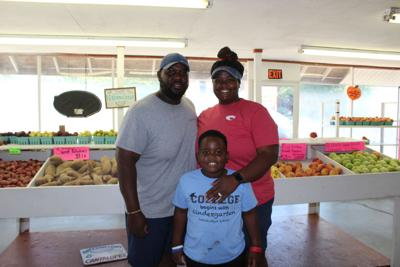 Ford family at Cleckler's Produce