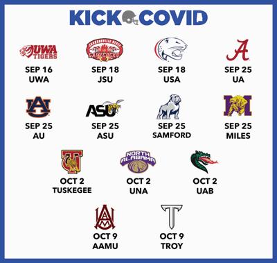 Kick COVID flyer