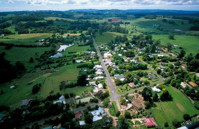 Rural community stock image