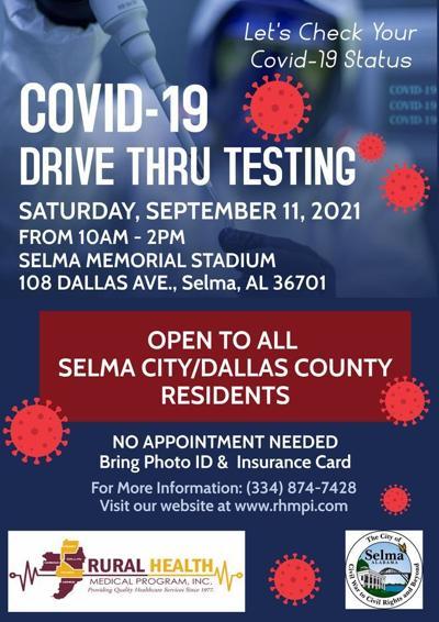Selma Memorial COVID drive thru testing
