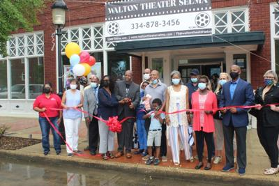 Walton Theater ribbon cutting