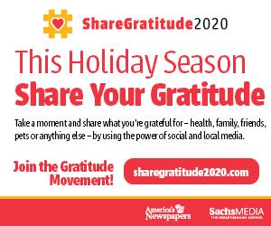 Selma Sun joins national Share Gratitude 2020 initiative