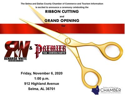 Consulting grand opening flyer