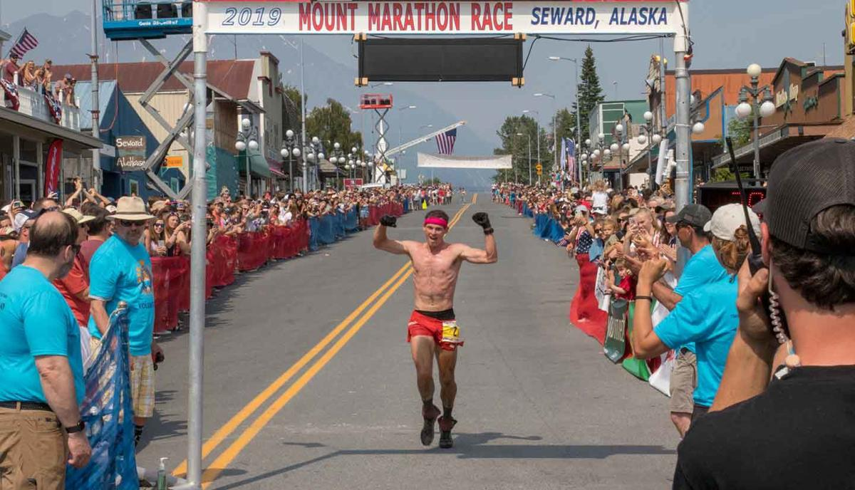 Max King Crosses Finish Line