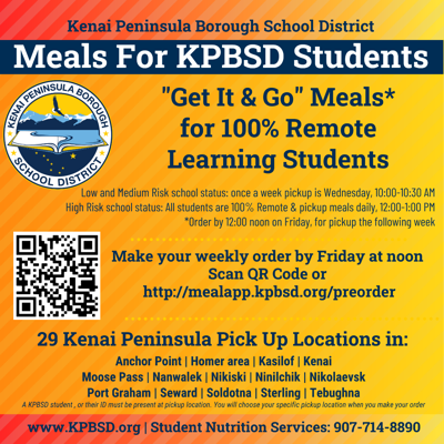 School meal pick up for remote learning