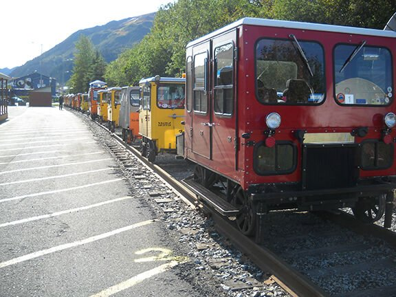 Railcars in station