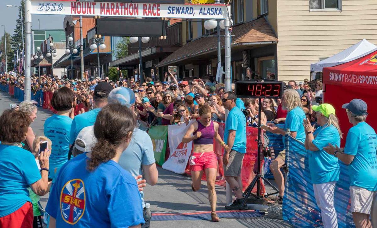 Hannah Lafluer Crosses Finish Line
