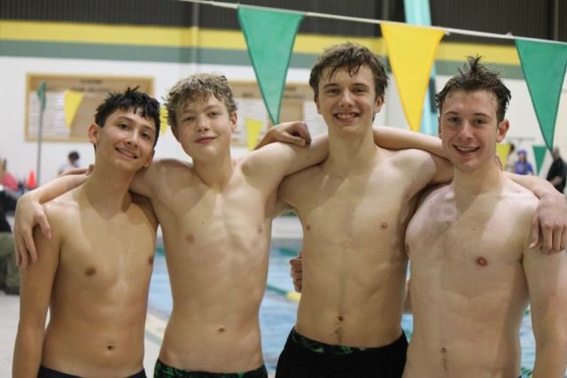 200 free relay - Moriarty, Hill, Hollingsworth, Spanos