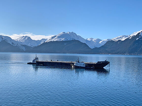 The Columbia Boston in Resurrection Bay