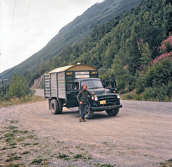 John Davidson and his truck