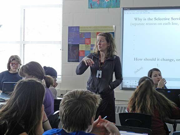Myla Lilijemark in the classroom