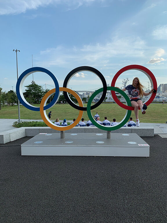 Lydia Jacoby Olympic Rings