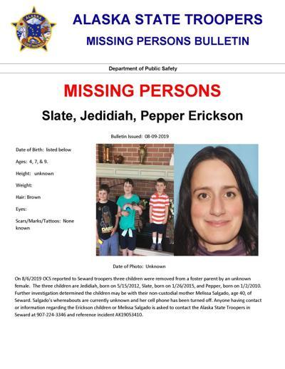 Erickson Children Missing Poster